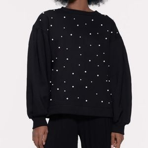 Zara Sweater with Faux Pearl